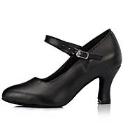 Zapatos de baile (Negro/Rojo) - Moderno - No Personalizable - Tacón grueso