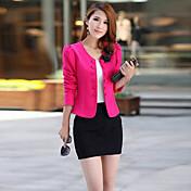 falariの女性の新しい韓国の気質スリムダブルブレスト大きな庭OL短いタイプのブレザースーツ