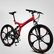 Bicicleta de Montaña Bicicletas plegables Ciclismo 21 Velocidad 26 pulgadas/700CC BRILLANTE SYS Doble Disco de Freno Suspensión por Muelle