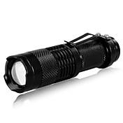 Belysning LED Lommelygter Lommelygter LED 240 Lumen 3 Tilstand Cree XR-E Q5 14500 AAJusterbart Fokus Genopladelig Taktisk Super let