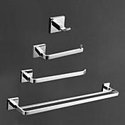 現代の真鍮クローム仕上げの浴室の付属品セット、4ピースのバスコレクションセット