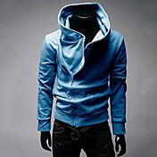 estilo coreano sólido Bassic el color de los hombres chaqueta equipada (café, gris, negro, azul)