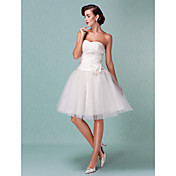 Lanting Ball Gown Plus Sizes Wedding Dress - Ivory Knee-length Sweetheart Tulle