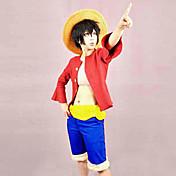 Inspirado por One Piece Monkey D. Luffy Animé Disfraces de cosplay Trajes Cosplay Retazos Top Cinturón Pantalones cortos Para Hombre Mujer