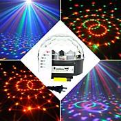 6X3W RGB LED MP3 DJ Club Pub Disco Party Crystal Magic Ball Stage Laser Light(AC100-240V)