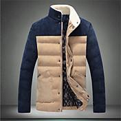 ℃&k個の男性の綿の盛り合わせ色は襟のコートスタンド