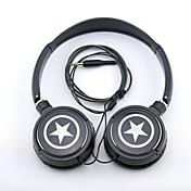 spc06 estrellas logo jack estéreo de 3,5 mm para auriculares sobre el oído para mp3 / celulares / pc