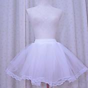 Falda Lolita Clásica y Tradicional Lolita Cosplay Vestido  de Lolita Un Color Longitud Pequeña Enagua por Organza