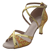 Zapatos de baile (Oro/Negro/Plata) - Salón de Baile/Danza latina/Salsa - No Personalizable - Tacón de estilete