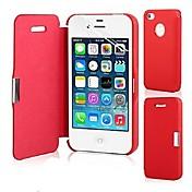 のために iPhone 5ケース フリップ / 磁石バックル ケース フルボディー ケース ソリッドカラー ハード PUレザー iPhone SE/5s/5