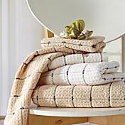 3pcs sensleep® toallas de mano Pack, marrón claro o diseño toalla de mano de algodón 100% geométrica lvory