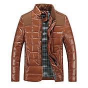 男性用のpleucheカジュアル長袖ジッパーのコート