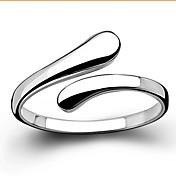 指輪 結婚式 / パーティー / 日常 / カジュアル ジュエリー 純銀製 女性 ステートメントリング調整可 シルバー