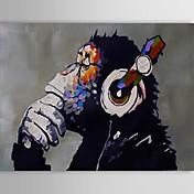 Pintada a mano Animal Horizontal,Clásico Modern Tradicional Un Panel Lienzos Pintura al óleo pintada a colgar For Decoración hogareña