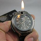 Herre Armbåndsur Unik Creative Watch lighter Quartz Silikone Bånd Sort