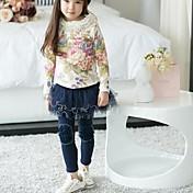 Girl's Fashion Flowers Mesh Culotte Leggings