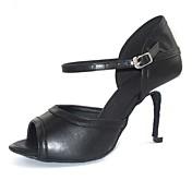 Zapatos de baile (Negro) - Danza latina Tacón Personalizado