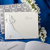 芳名帳/ゲストブック(樹脂 ホワイト 25cm*20cm*2.6cm 最初のページが空白なので、ご自分の写真、また好きな内容が記入できます. 50