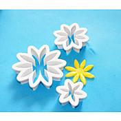 4-Cフォンダンケーキカッター、ケーキ飾るプラスチックカッター、ケーキフォンダン装飾、ケーキツール