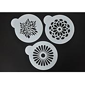 Four-C Kaffe Stenciler Sæt Blomst Cupcake Dekoration, Kage Spray Stenciler, Udsmykning Fondant Stenciler, Kulinariske Stenciler