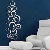 ミラー ウォールステッカー ミラー・ウォールステッカー 飾りウォールステッカー,ビニール 材料 取り外し可 ホームデコレーション ウォールステッカー・壁用シール