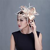 成人用 フラワーガール サテン 羽毛 かぶと-結婚式 パーティー カジュアル 屋外 ヘッドドレス