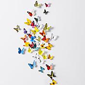 3D蝶ポリ塩化ビニールの壁のステッカーの壁の芸術のステッカー(38個セット)
