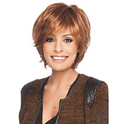 高品質なキャップレスショートカーリーモノトップ人間の髪の毛のかつら選択する9色