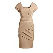 WOMEN - セクシー - ドレス ( コットン ラウンド - 半袖