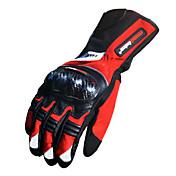Guantes de moto Dedos completos Fibra de Carbono de Bambú L/XL/XXL Rojo/Negro/Azul