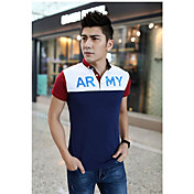 男性用 半袖 ポロシャツ , コットン カジュアル