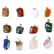 beadiaの24PCS混合色天然宝石チャームペンダントビーズは、不規則な形の石フィットペンダントネックレスを詰め合わせ