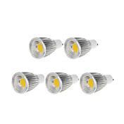 9W GU10 LEDスポットライト MR16 1 COB 750-800 lm 温白色 / クールホワイト 明るさ調整 交流220から240 / AC 110-130 V 5個