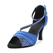 Zapatos de baile (Azul/Morado) - Danza latina - Personalizados - Tacón Personalizado