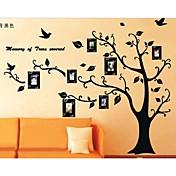 フォトフレーム木の壁のステッカーは、子供の部屋の壁の芸術のリビングルームの壁のステッカーをzooyoo2141