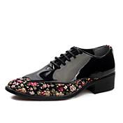 Hombre Zapatos Semicuero Tejido Primavera Verano Otoño Invierno Confort zapatos Bullock Oxfords Con Cordón Para Casual Fiesta y Noche