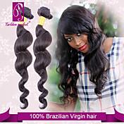 Tejidos Humanos Cabello Cabello Brasileño Ondulado Amplio 3 Piezas los tejidos de pelo