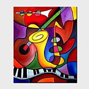 pinturas al óleo de un moderno panel de lona pintados a mano abstractos listo para colgar
