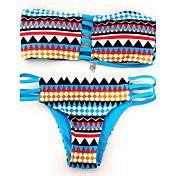 Bikini (Nailon)- Push-Up - Bandeau para Para Mujer