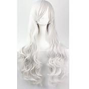 Mujer Pelucas sintéticas Sin Tapa Rizado Plata Peluca de cosplay Las pelucas del traje