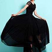 Dámské Vintage Velké velikosti Šaty Jednobarevné Kulatý Maxi Polyester
