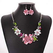 ジュエリーセット ファッション 合金 ピンク ネックレス イヤリング・ピアス のために 結婚式 パーティー 日常 カジュアル 1セット ウェディングギフト