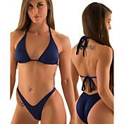 De las mujeres Bikini - Monocolor/Bandage Sin Soporte - Bandeau - Nailon