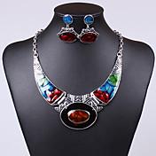 Collar/Pendiente (Aleación/Zirconia Cúbica/Acrílico/Piedra Preciosa y Cristal)- Vintage/Fiesta/Trabajo/Casual para Mujer