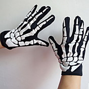 蛍光スケルトンゴースト手袋(ランダムに色の派遣)