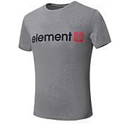 男性用 ストライプ カジュアル / プラスサイズ Tシャツ,半袖 コットン混,ブラック / ブルー / レッド / ホワイト / グレー