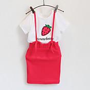 Djevojka je Komplet odjeće Kratkih rukava - Ljeto/Proljeće/Jesen , Pamuk