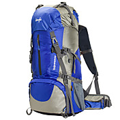 60 L リュックサック バックパッキング用バックパック 登山 キャンピング&ハイキング 防水 防雨 耐久性 多機能の メッシュ テリレン ナイロン OSEAGLE