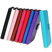 iphone 7 plus ymx-solid boja svjetlosti površina PU Koža cijelog tijela slučaj novčanik za iPhone 5 / 5s