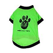 Gatos / Perros Camiseta Verde Ropa para Perro Verano / Primavera/Otoño Flores / Botánica Moda